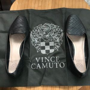 Vince Camuto Black Perforated Flats